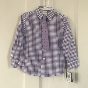 Van Heusen Dress Shirt and Tie
